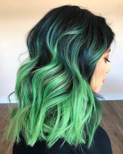 17 Green Hair Color Ideas That Will Make You Green With Envy In 2020 In 2020 Green Hair Green Hair Colors Neon Green Hair