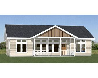 36x32 House 2 Bedroom 2 Bath 1082 Sq Ft Pdf Floor Etsy Mobile Home Exteriors Garage House Plans Modular Floor Plans