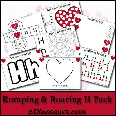Free Romping & Roaring H Pack - 3Dinosaurs.com