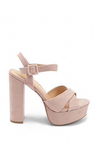 7dc80ed4723b Alice Olivia - Layla Suede Platform Sandals - Dusty Rose. Retro-chic ...