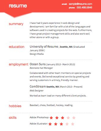 19png (340×440) resume Pinterest Sample resume and
