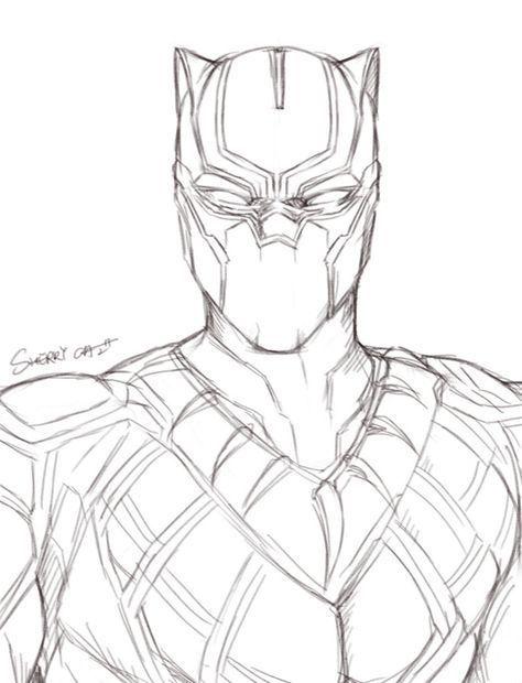 11 Breathtaking Draw People Cartoon Realistic Ideas Black Panther Drawing Drawing Superheroes Marvel Art Drawings