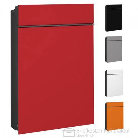 Serafini Briefkasten Flat in grau, rot, blau, schwarz oder weiss