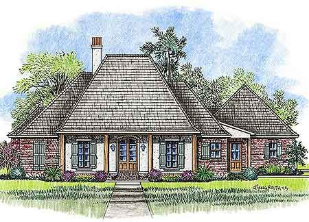 Acadian style house plans on pinterest acadian house for House plans with carport in back