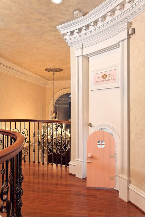 Princesses only! The entrance to a princess bedroom in Virginia designed by Dahlia Mahmood of Dahlia Designs. The budget for the 2-year-old's room was $200,000