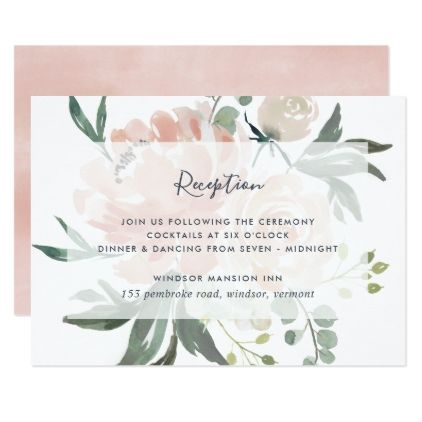 Midsummer Floral Reception Card Zazzle Com Reception Card Wedding Cards Diy Wedding Flowers
