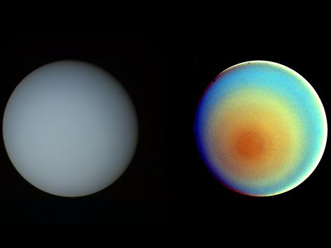 Uranus In True And False Color Uranus Earth And Solar System Space Facts