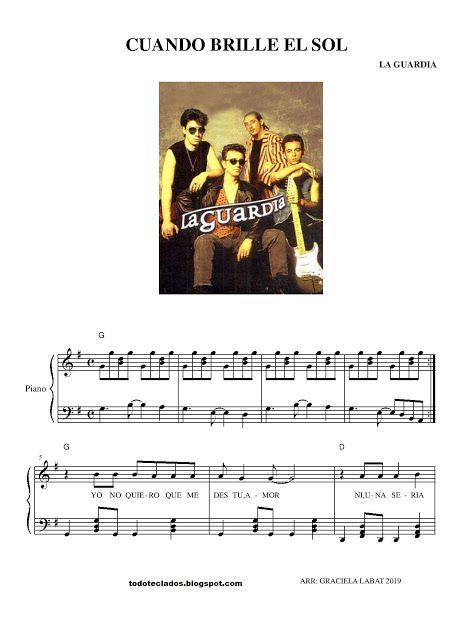 Cuando Brille El Sol La Guardia Letras Y Acordes Andy Gibb Carole King