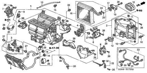 Diagram For Honda Polit 2003 Heater Unit Honda Oem Parts 2003 Honda Accord For 2dr Ex V6 Honda Accord Oem Parts Oem