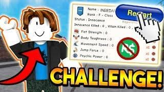 STARTING OVER WITH NO ROBUX CHALLENGE! | ROBLOX: Super Power