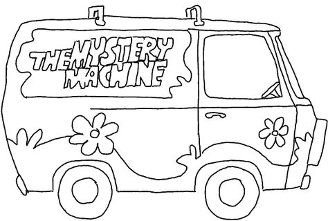 Scooby Doo Coloring Pages Mystery Machine Scooby Doo Coloring Pages Scooby Doo Halloween Scooby Doo Birthday Party