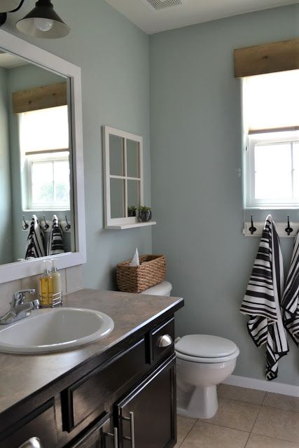 Light Blue Bathroom Martha Stewart Rainwater Small Tiles Simple Walls