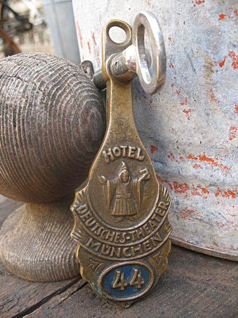 Hotel Room Key Vintage 1109 Brass Key