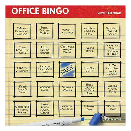 2020 Office Bingo Mini Calendar Walmart Com Office Bingo Bingo Fourth Of July Crafts For Kids