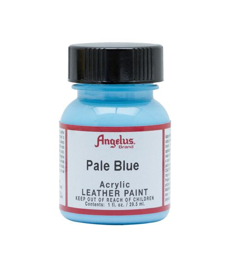 Angelus Acrylic Leather Paint 1oz Pale Blue In 2020 Leather Paint Waterproof Paint Leather