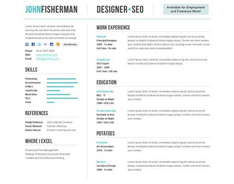 Awesome Resume CV Templates Graphic Design 56pixels - beauty therapist resume