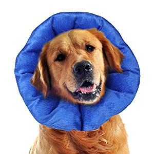 Luckup Dog Recovery Collars Cones Soft Pet Recovery Collar With Removable Stays Adjustable Inflatable Stays Xl Dog Supplies Online Dog Cone Pets Dog Cone Collar