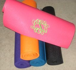 lg mats embroidered action yoga mat custom monogrammed