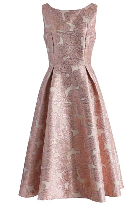 Fanciful Rose Intarsia Prom Dress in Pink - New Arrivals - Retro, Indie and Unique Fashion
