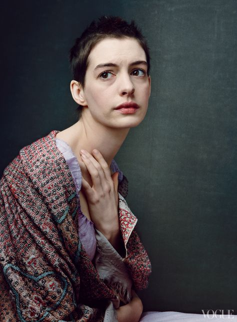 """Anne Hathaway cut off her hair and lost 25 pounds to play Hugo's ill-fated heroine. """"Fantine is a warrior for love,"""" says the actress. """"She's willing to sacrifice everything—her sense of right and wrong, her looks, her very life—for her child."""""""