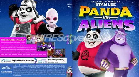 DVD Cover Custom DVD covers BluRay label movie art - Blu-ray CUSTOM Covers - P / Panda Vs Aliens (2021)