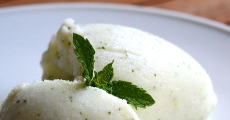 cómo hacer helado de hierbabuena