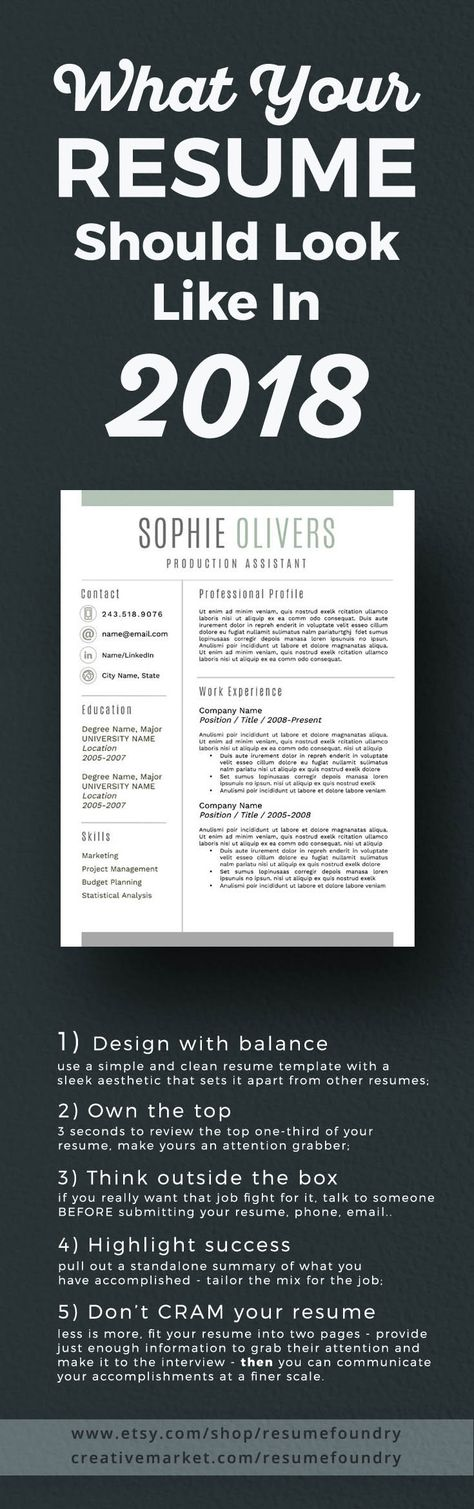 Modern Resume Template for Word, 1-3 Page Resume + Cover Letter + Reference Page   US Letter   INSTANT DOWNLOAD   Sophie