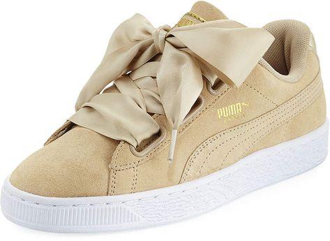 Puma Basket Heart Safari Suede Sneaker, Tan | Puma basket