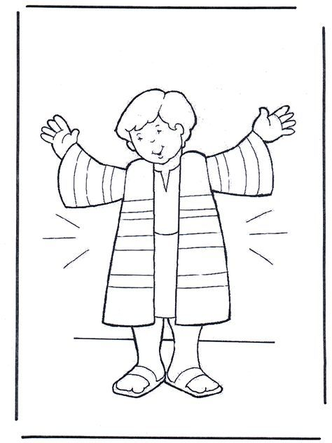 Joseph S Coat Coloring Sheet Bible Coloring Pages