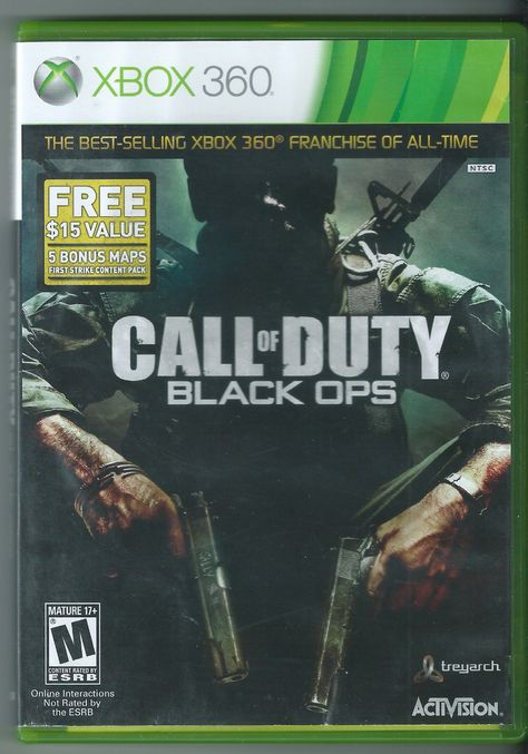Call Of Duty Black Ops Xbox 360 2010 Complete Black Ops Xbox 360 Xbox