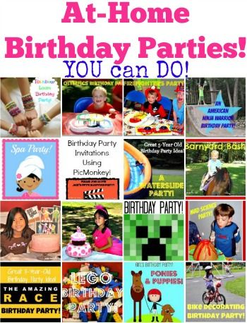 How To Throw Your Own Kids Birthday Parties At Home Fun Party