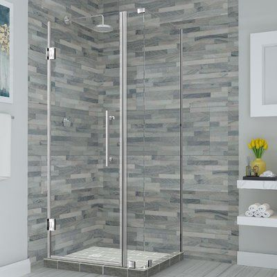 Aston Bromley 32 25 X 72 Rectangle Hinged Shower Enclosure Finish Stainless Steel In 2020 With Images Frameless Shower Enclosures Shower Enclosure Shower Doors