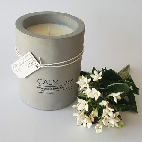 Calm Concrete Scented Candles at Wick Candle Boutique Brighton & Hove