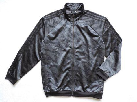 low priced 71c78 ebd3e adidas Men s Essentials 3 Stripe Camo Track Jacket, Black Print, Size  L   adidas  TracksuitsSweats