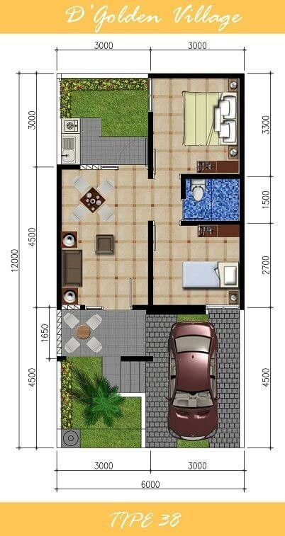 House Plan To See More Denah Rumah Rumah Minimalis The Plan