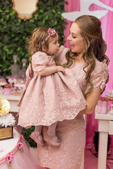 Compre Vestido Luxo Tal Mãe Tal Filha Rose No Elo7 Por R