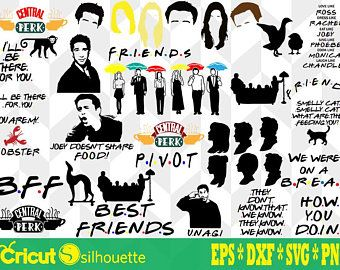 Friends Svg Etsy Silhouette Cameo Crafts Craft Images Friends Font