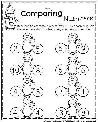 Comparing Numbers Worksheet Free Kindergarten Math January Kindergarten Comparing Numbers Kindergarten Comparing Numbers Worksheet