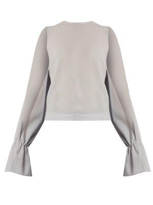 075c25a3fff181 RAG   BONE Max Wrap-Effect Striped Silk Blouse.  ragbone  cloth  tops