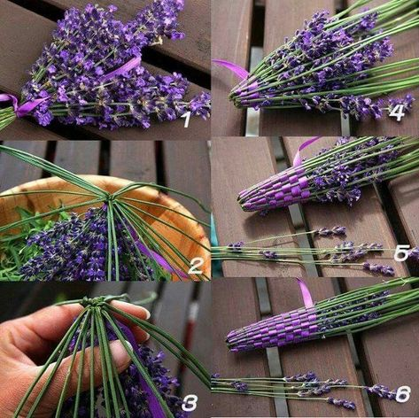 Making a lavender wand