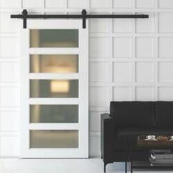Glass Barn Door Without Installation Hardware Kit In 2020 Glass Barn Doors Barn Door Sliding Glass Barn Doors