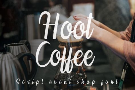 Hoot Coffee (Font) by K_IN Studio · Creative Fabrica
