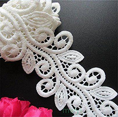 Tissu de dentelle brod/ée D/écoration de mariage artisanat 4,5/cm x 10/m