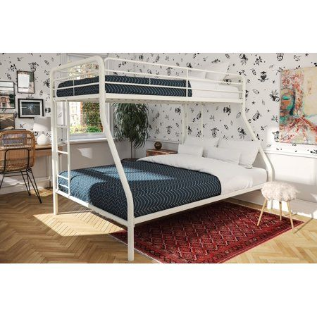 32++ White metal bunk bed twin over full info