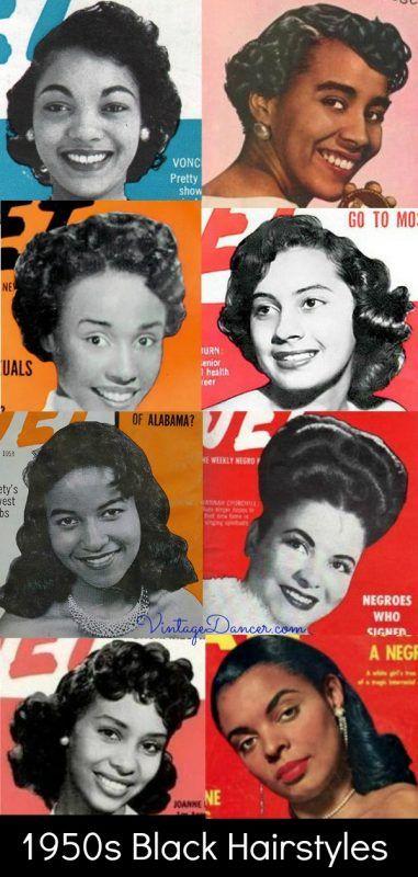 1950s African American Hairstyles Women S 50s Black Hairstyles