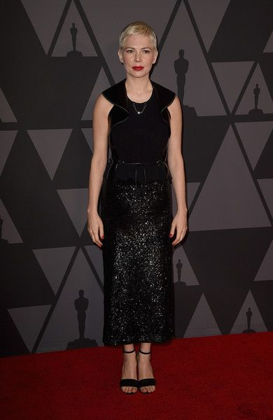 Michelle Williams attends the Academy of Motion Picture Arts and Sciences' 9th Annual Governors Awards at The Ray Dolby Ballroom.