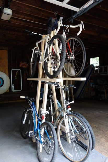 Wood Bike Rack For 5 Bikes Fast And Low Cost Build Picture Of