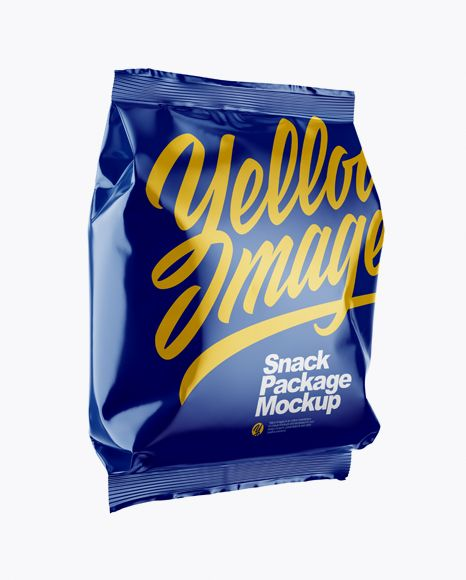 Download Glossy Snack Package Mockup Half Side View In Bag Sack Mockups On Yellow Images Object Mockups Mockup Free Psd Mockup Free Download Mockup Downloads