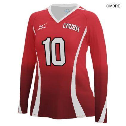 long sleeve mizuno volleyball jerseys