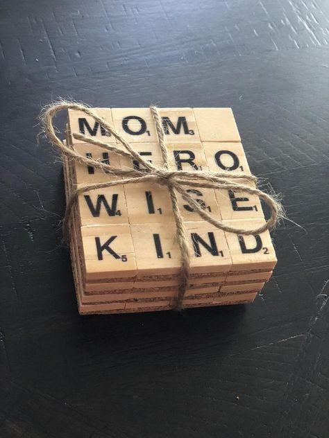 Custom Set of 4 Scrabble Coasters